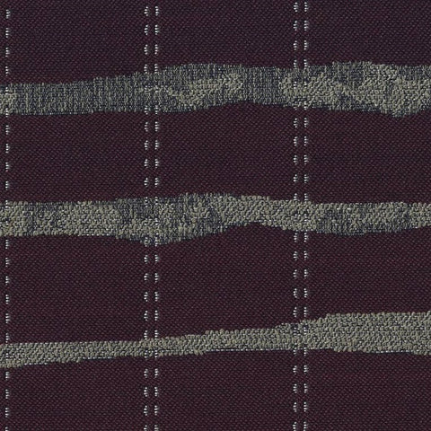 Bernhardt Stitch Plum Purple Stripe Upholstery Fabric