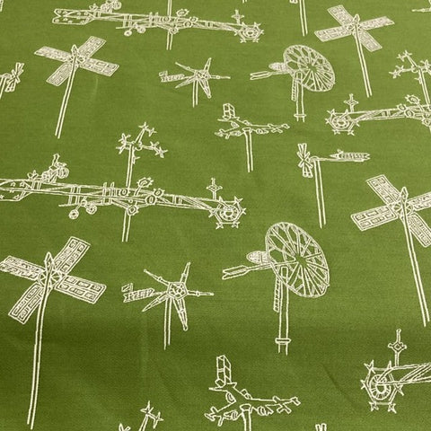 Mayer Whirligig Parrot Green Sunbrella Outdoor Upholstery Fabric