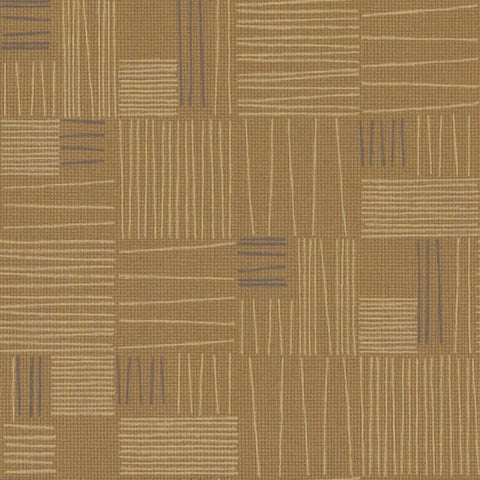 Fabric Remnant of Arc-Com Tally Antique Gold Upholstery Vinyl