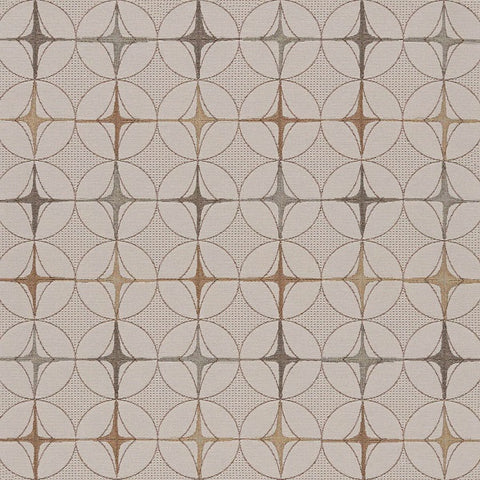 Arc-Com Tritik Cocoa Neutral Geometric Beige Upholstery Fabric