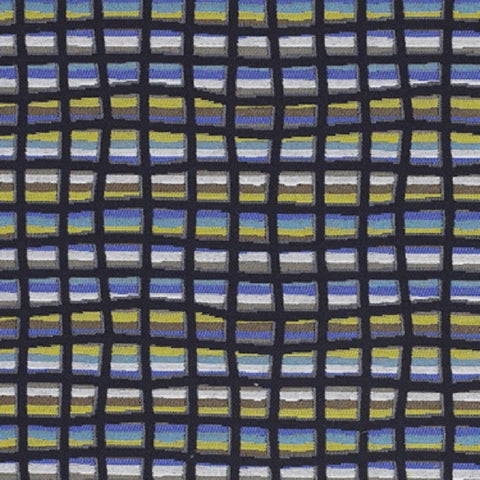 Turin Highway Check Multi Color Upholstery Fabric