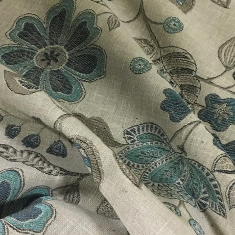 Swavelle Mill Creek Agrove Sky Floral Gray Upholstery Fabric