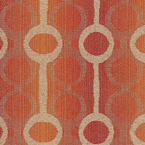 Mayer Align Fruit Punch Modern Design Orange Upholstery Fabric