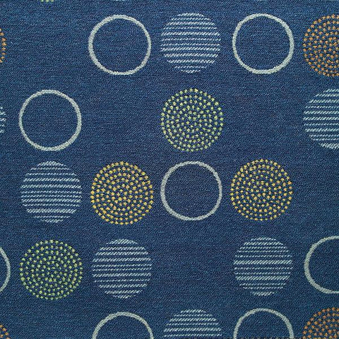 Momentum Amuse Admiral Circles Blue Upholstery Fabric