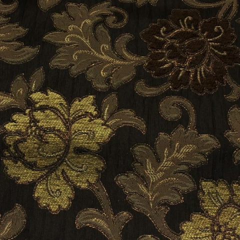 Swavelle Mill Creek Upholstery Fabric Floral Anniston Brown Toto Fabrics