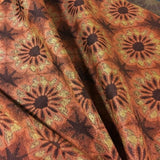 Arc-Com Arashi Tangerine Floral Orange Upholstery Fabric