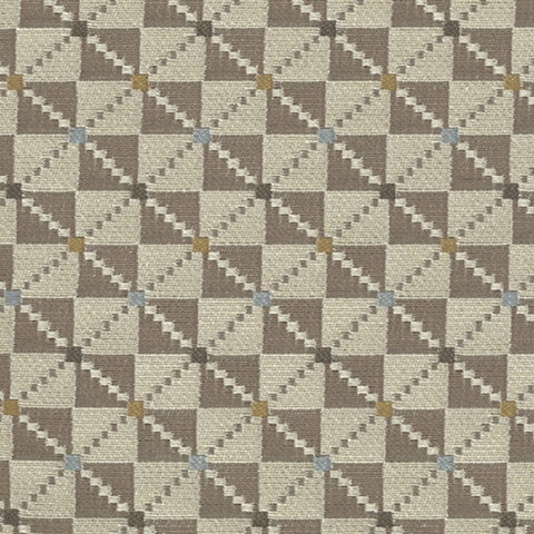 Upholstery Fabric Checkered Pattern Argyle Almond Toto Fabrics