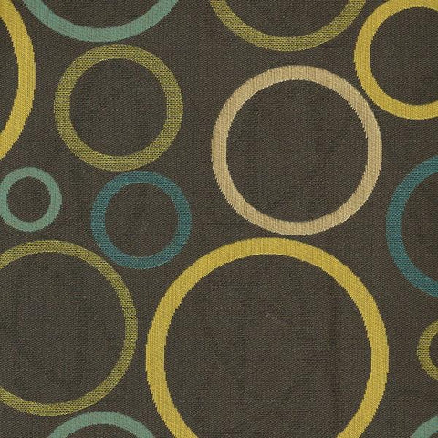 Architex Astronomy Solar Crypton Geometric Black Upholstery Fabric