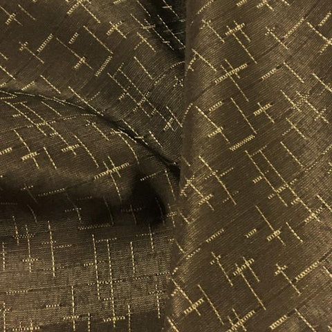 Swavelle Mill Creek Bamboozle Acorn Dash Stripe Brown Upholstery Fabric