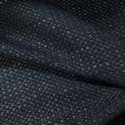 Designtex Bark Cloth Navy Chenille Blue Upholstery Fabric