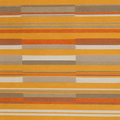 CF Stinson Bass Line Mellow Staggered Stripes Orange Upholstery Fabric