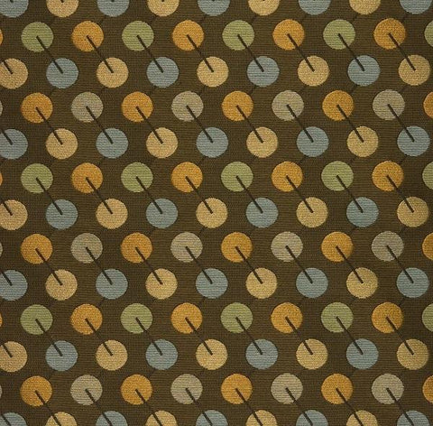 Arc-Com Upholstery Fabric Circles Bauble Olive Toto Fabrics