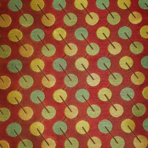 Arc-Com Bauble Ruby Red Upholstery Fabric