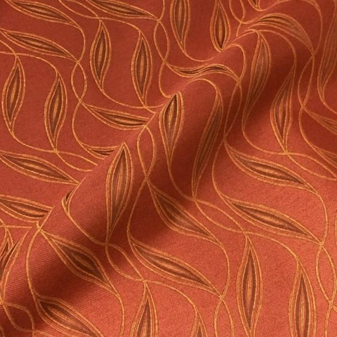 Sina Pearson Beachcomber Cayenne Botanical Crypton Orange Upholstery Fabric
