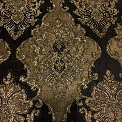 Bradshaw Godiva Victorian Tapestry Style Brown Upholstery Fabric Swavelle Mill Creek
