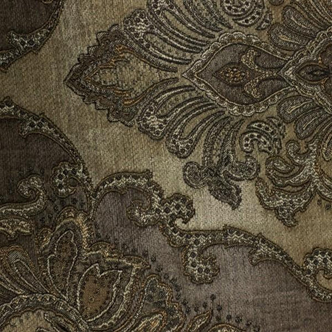 Bradshaw Stone Victorian Tapestry Style Brown Upholstery Fabric Swavelle Mill Creek