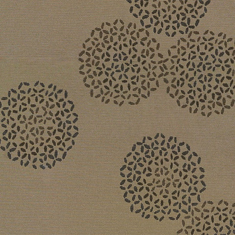 Arc-Com Upholstery Fabric Abstract Floral Brayer Flower Sand Toto Fabrics