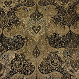 Brenice Cocoa Victorian Tapestry Style Brown Upholstery Fabric Swavelle Mill Creek