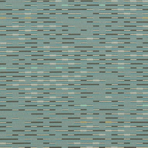 Maharam Brio Dive Dashed Stripe Blue Upholstery Fabric