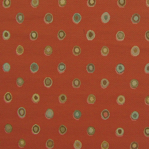 Arc-Com Fabrics Upholstery Fabric Remnant Bubbly Terracotta
