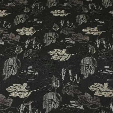 Upholstery Fabric Leaves Burren Graphite Toto Fabrics