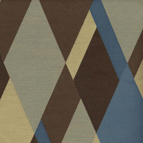 Momentum Cairns Obsidian Large Diamonds Brown Upholstery Fabric