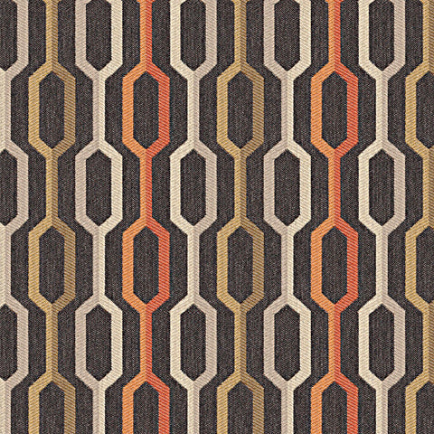 Carnegie Fabrics Sunbrella Camden Color 5 Colorful Ogee Gray Upholstery Fabric