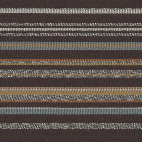 Arc-Com Campus Stripe Smoke Upholstery Fabric