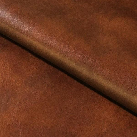 Swavelle Mill Creek Upholstery Fabric Solid Faux Leather Cantina Saddle Toto Fabrics
