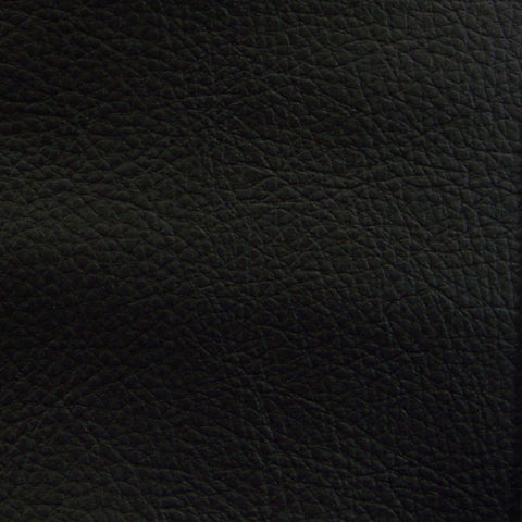 Mayer Fabrics Fabric Remnant of Caressa Black Faux Leather Upholstery Vinyl
