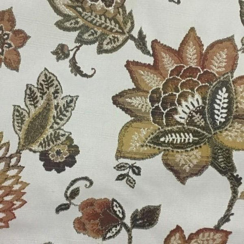 Swavelle Mill Creek Caroline Vino Floral Paisley Beige Upholstery Fabric