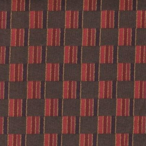Upholstery Fabric Checkered Checkers Plum Toto Fabrics