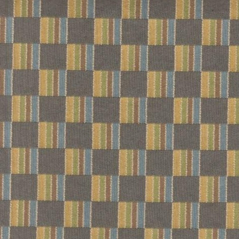 Upholstery Fabric Checkered Checkers Slate Toto Fabrics