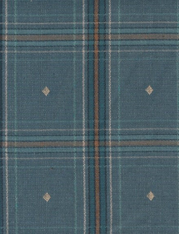 Upholstery Fabric Plaid Cheerful Check Denim Toto Fabrics
