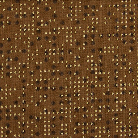 Upholstery Fabric Dots And Dashes Cipher Copper Toto Fabrics