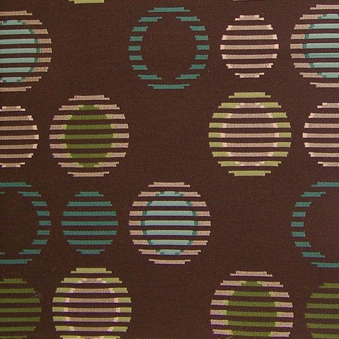 Arc-Com Cirque Truffle Geometric Circles Brown Upholstery Fabric