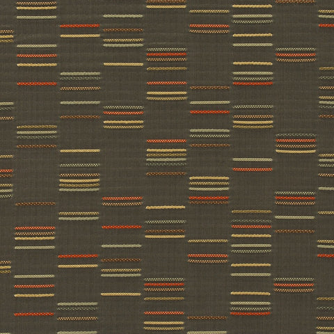 Upholstery Fabric Staggered Stripe Column Sepia Toto Fabrics