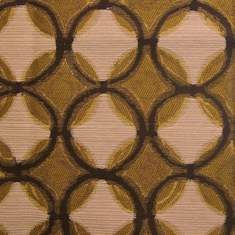 Pallas Composition Bamboo Geometric Circle Upholstery Fabric