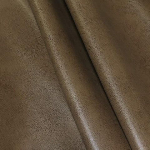 Upholstery Fabric Faux Leather Solid Cougar Hazelnut Toto Fabrics