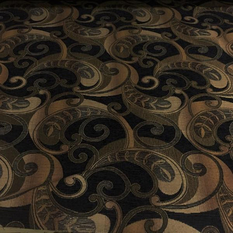 Swavelle Mill Creek Cowell Jet Paisley Brown Upholstery Fabric