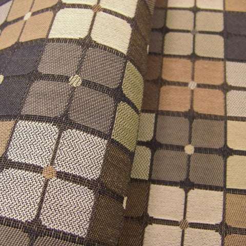 Designtex Cross Court Clay Colorful Geometric Upholstery Fabric