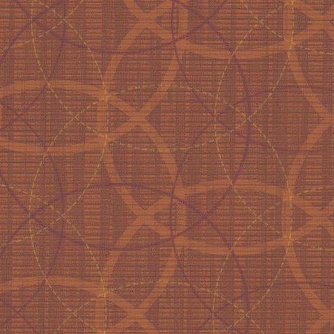 Designtex Crosswind Sunrise Geometric Vinyl Orange Upholstery Fabric