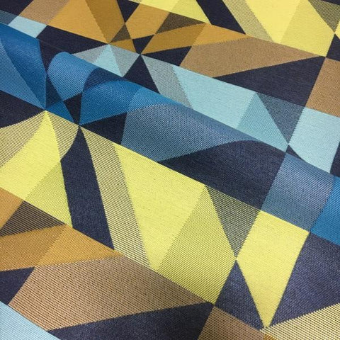 Arc-Com Crystal Navy Geometric Blue Upholstery Fabric