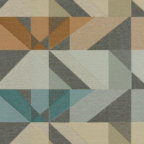 Arc-Com Crystal Smoke Geometric Grey Upholstery Fabric