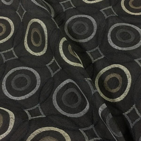 Swavelle Cycle Cafe Geometric Brown Upholstery Fabric