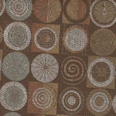 Upholstery Fabric Circle Design Dazed Mocha Toto Fabrics