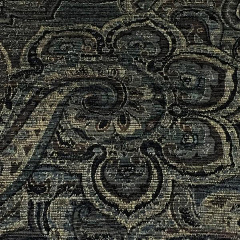 Swavelle Mill Creek Upholstery Fabric Paisley Design Demarest Ebony Toto Fabrics