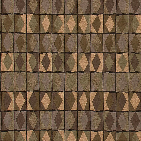 Arc-Com Fabrics Upholstery Fabric Neutral Geometric Diamond Derby Earth Toto Fabrics