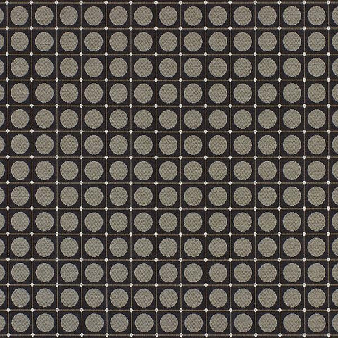 HBF Dot Grid Black And White Geometric Upholstery Fabric