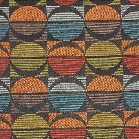Arc-Com Fabrics Upholstery Fabric Geometric Design Eclipse Sunrise Toto Fabrics